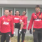VINE: Anderson and Herrera carried Falcao to Manchester United training today