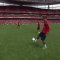 SICK! Laurent Koscielny with an outrageous rabona during Arsenal Members' Day (Video)