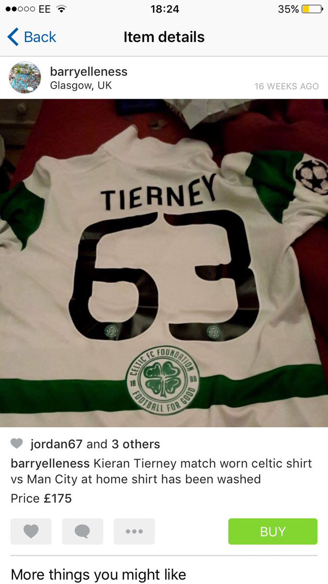 225f517b56a Pic  Kieran Tierney being an absolute legend after saving a Celtic ...