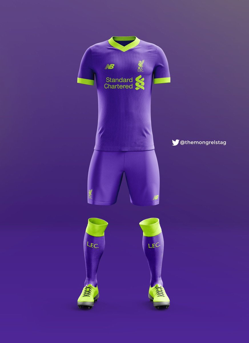 best sneakers d2fed d6aca Pic: The first image of Liverpool's bold new deep violet ...