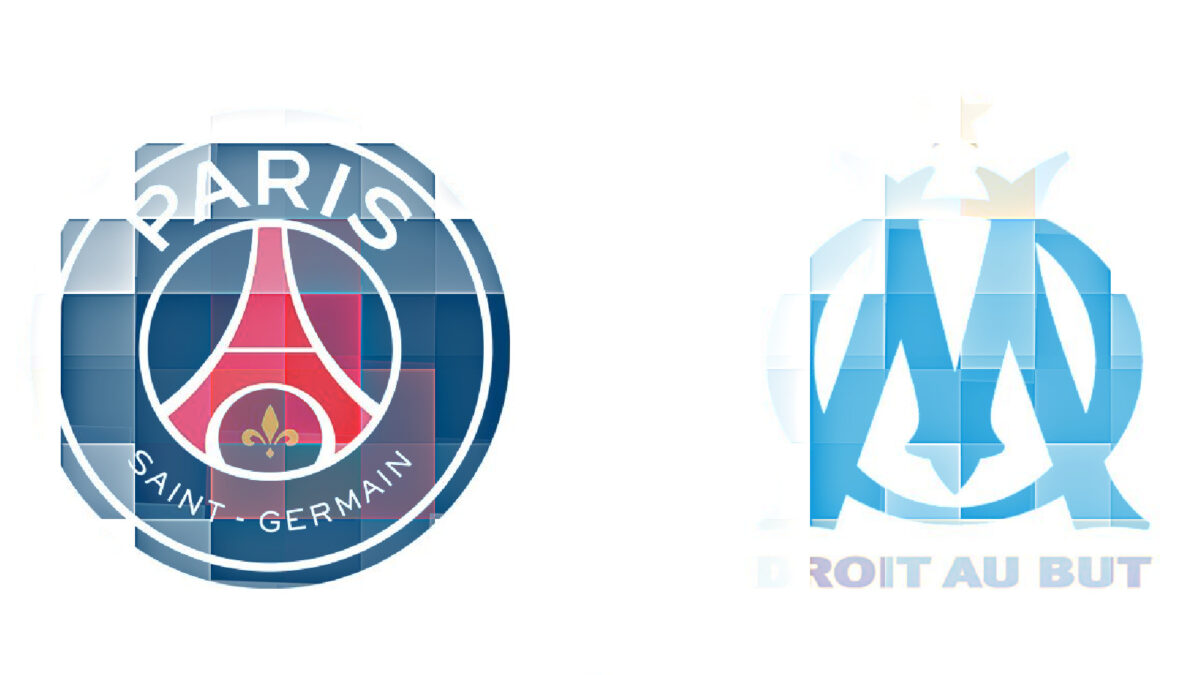 PSG and Marseille logos