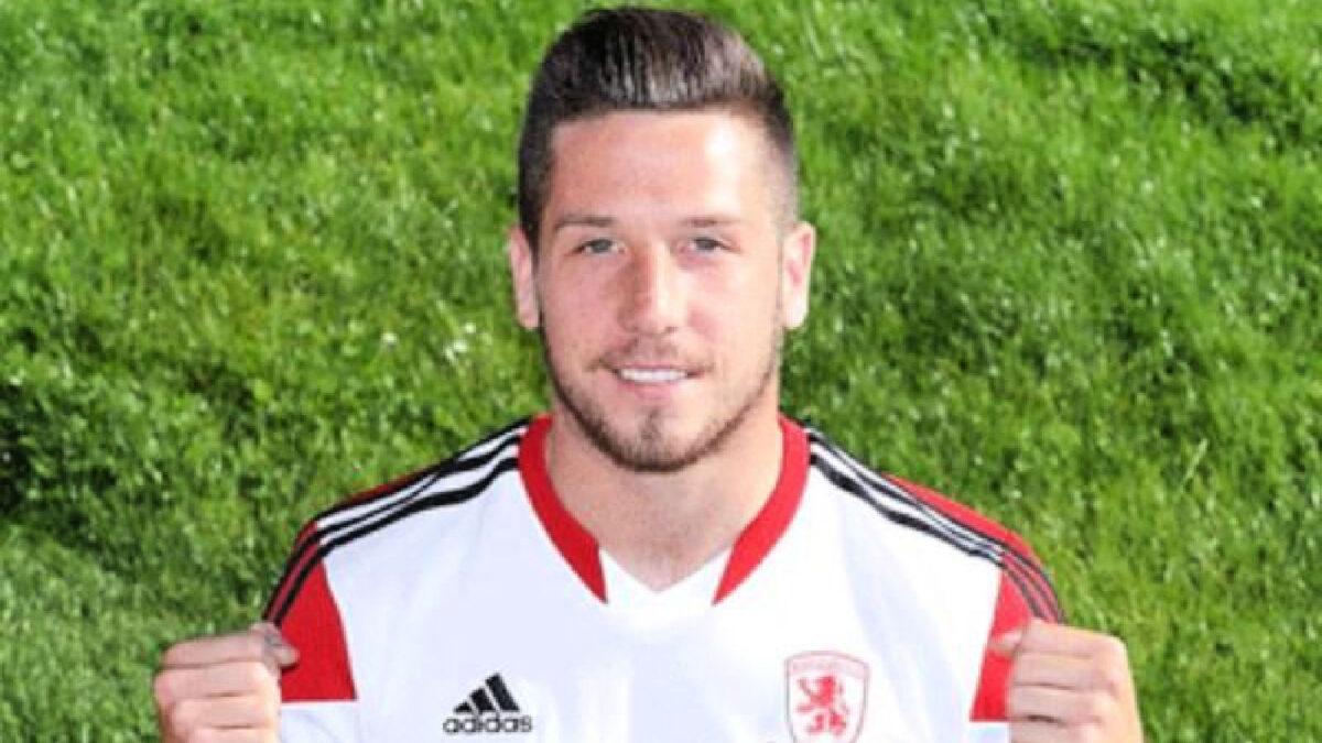 Jacob Butterfield in Middlesbrough shirt