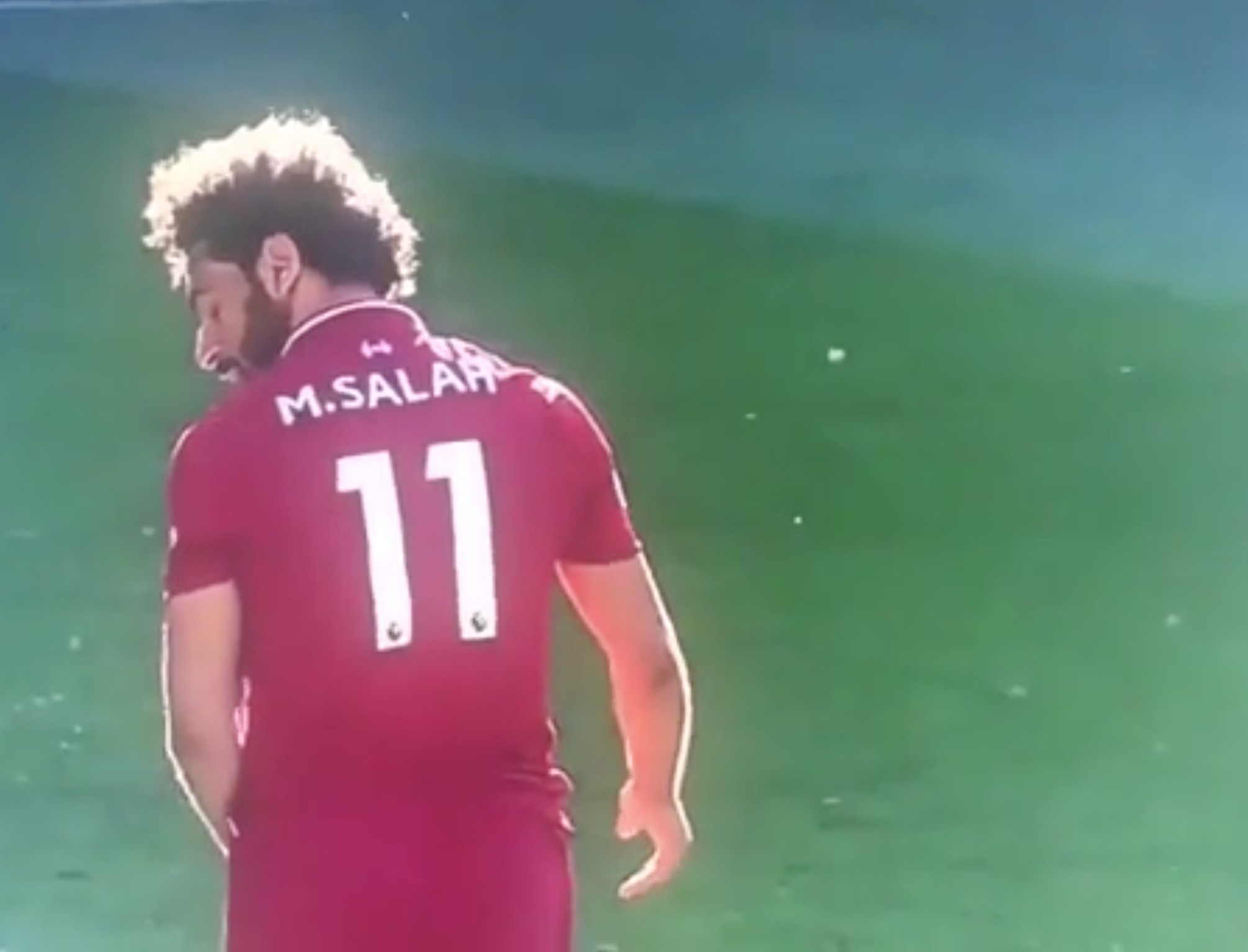 Mo Salah disappointed after Milner takes the ball away from him