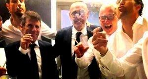 Chelsea staff smoking after Europa League win