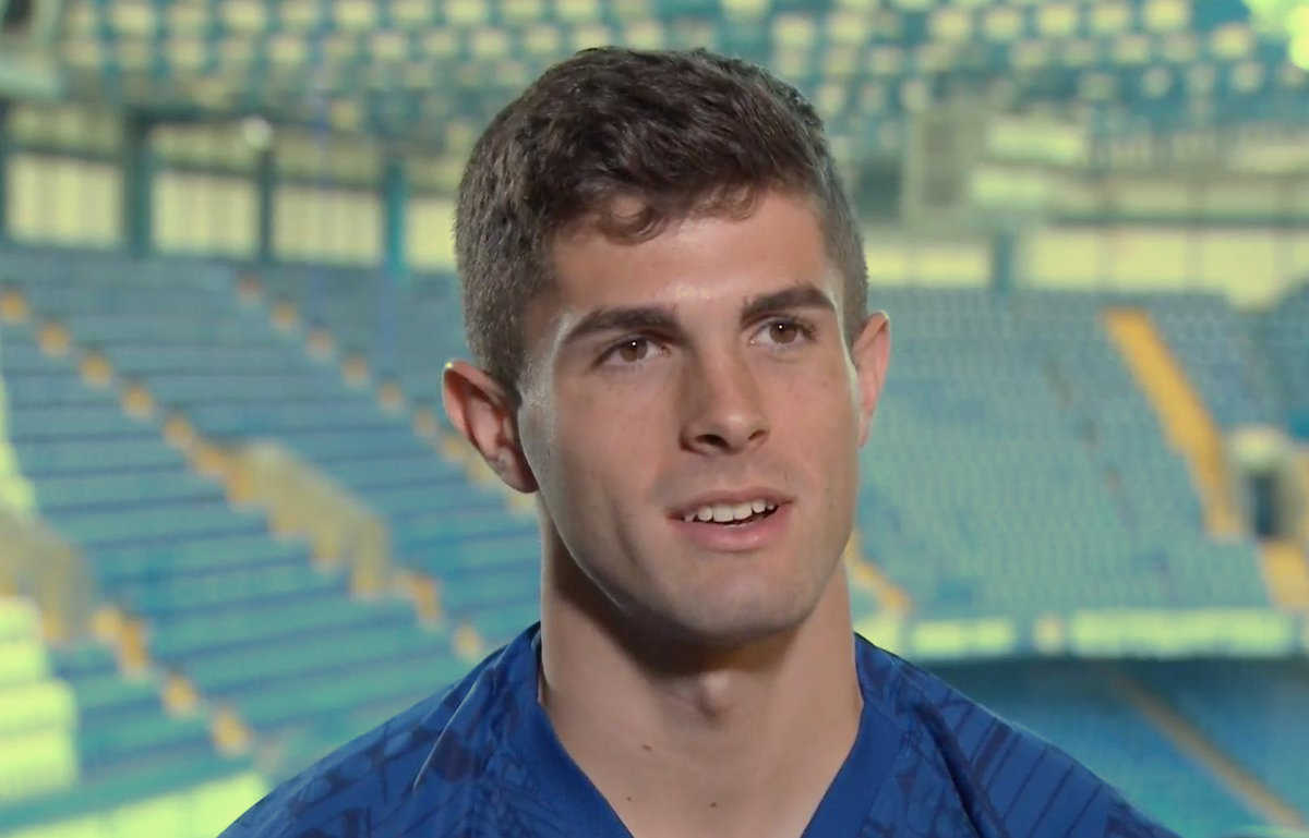 Christian Pulisic giving his first interview as Chelsea player