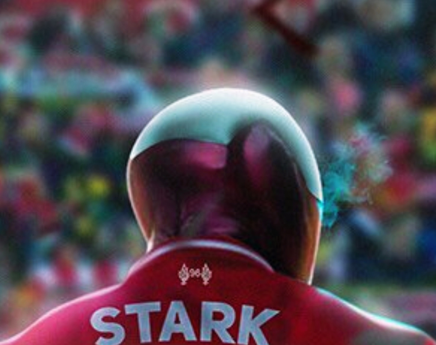 Iron Man in Liverpool shirt
