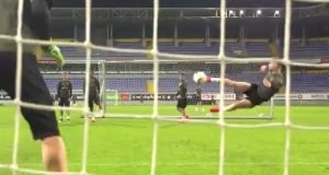 Mustafi bicycle kick in training