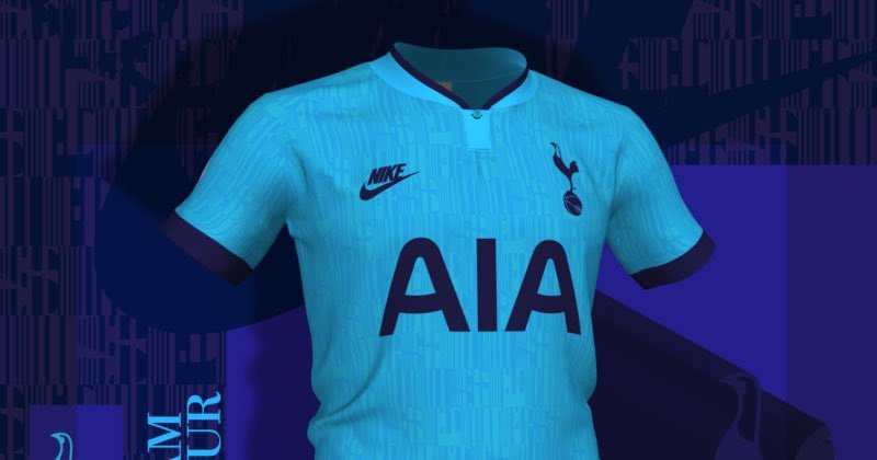 Tottenham Hotspur 3rd kit for 2019/20 with retro Nike logo