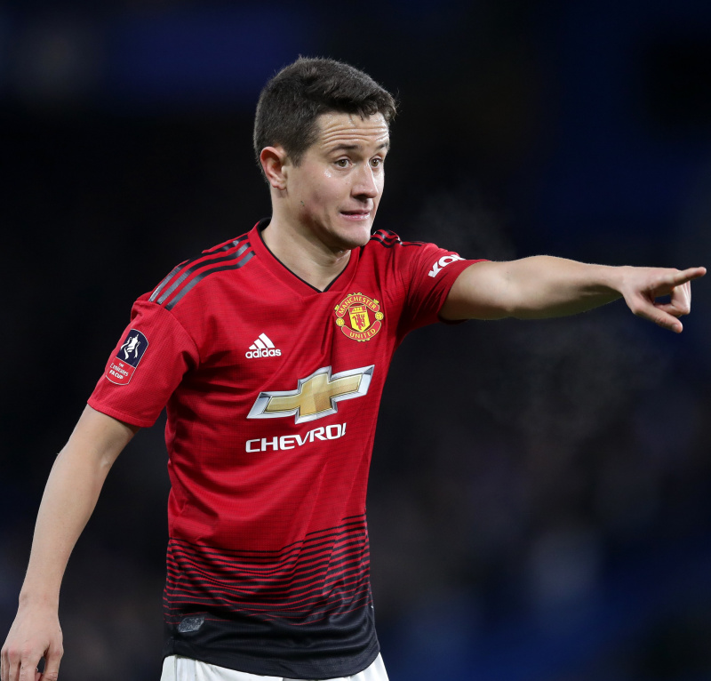 Ander Herrera in Manchester United kit