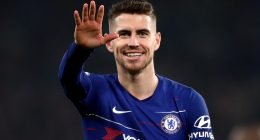 Jorginho in Chelsea home kit