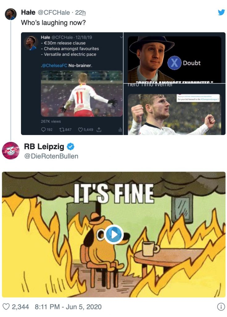 Image Official Rb Leipzig Account Might Just Have Confirmed Timo Werner S Transfer To Chelsea Thick Accent