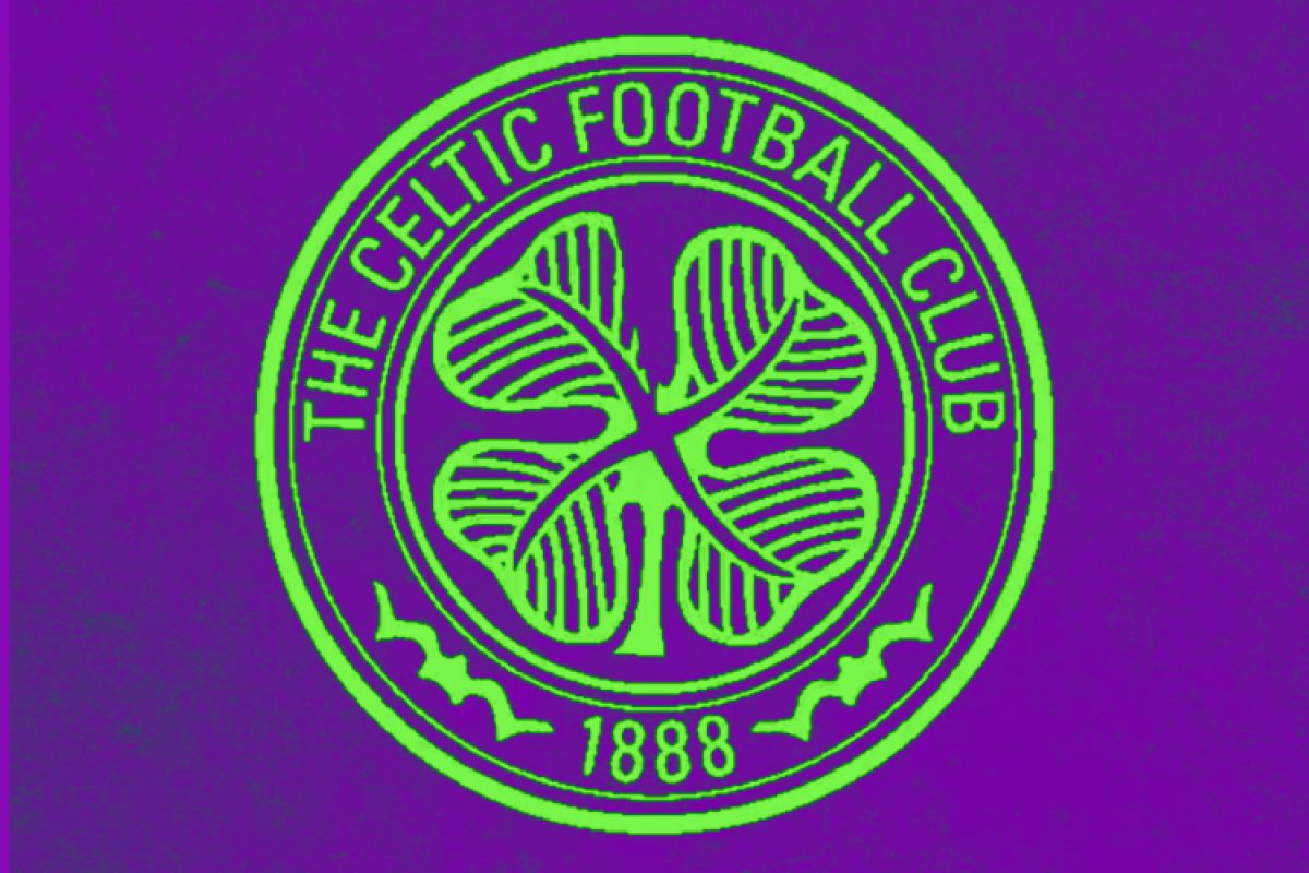 Celtic logo in purple, just like their new goalkeeper kit