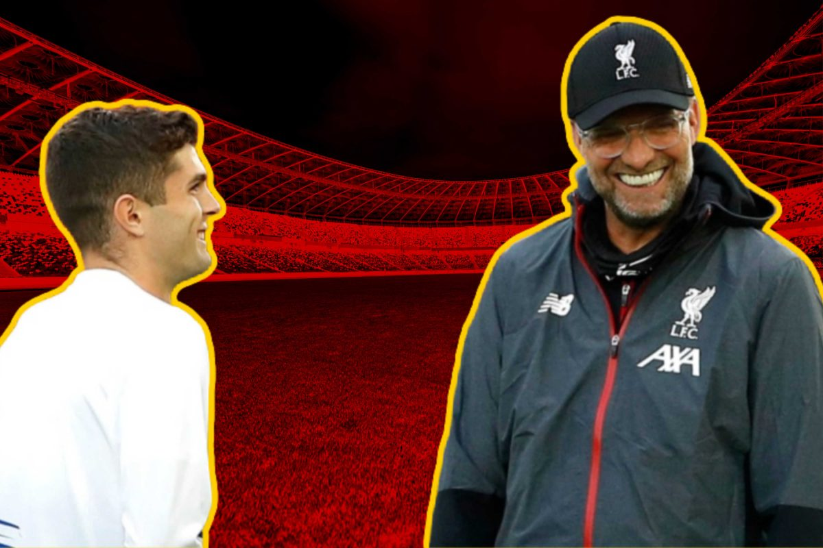 Christian Pulisic and Jurgen Klopp hanging out together before Chelsea v Liverpool match