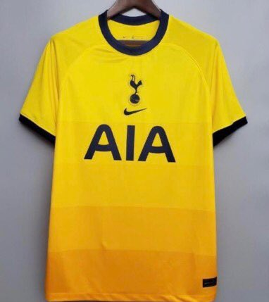 Rumored Tottenham Hotspur third kit for 20/21 season from Nike, yellow in colour.