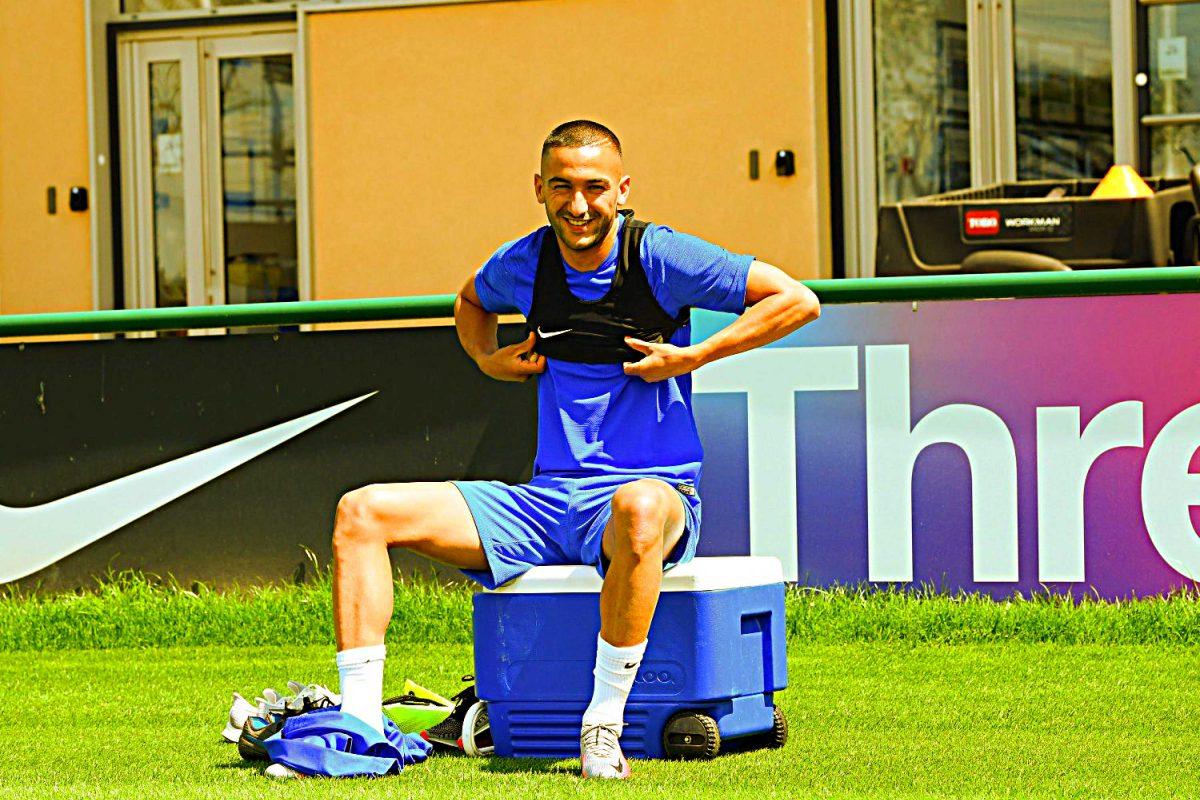 Hakim Ziyech in Chelsea training
