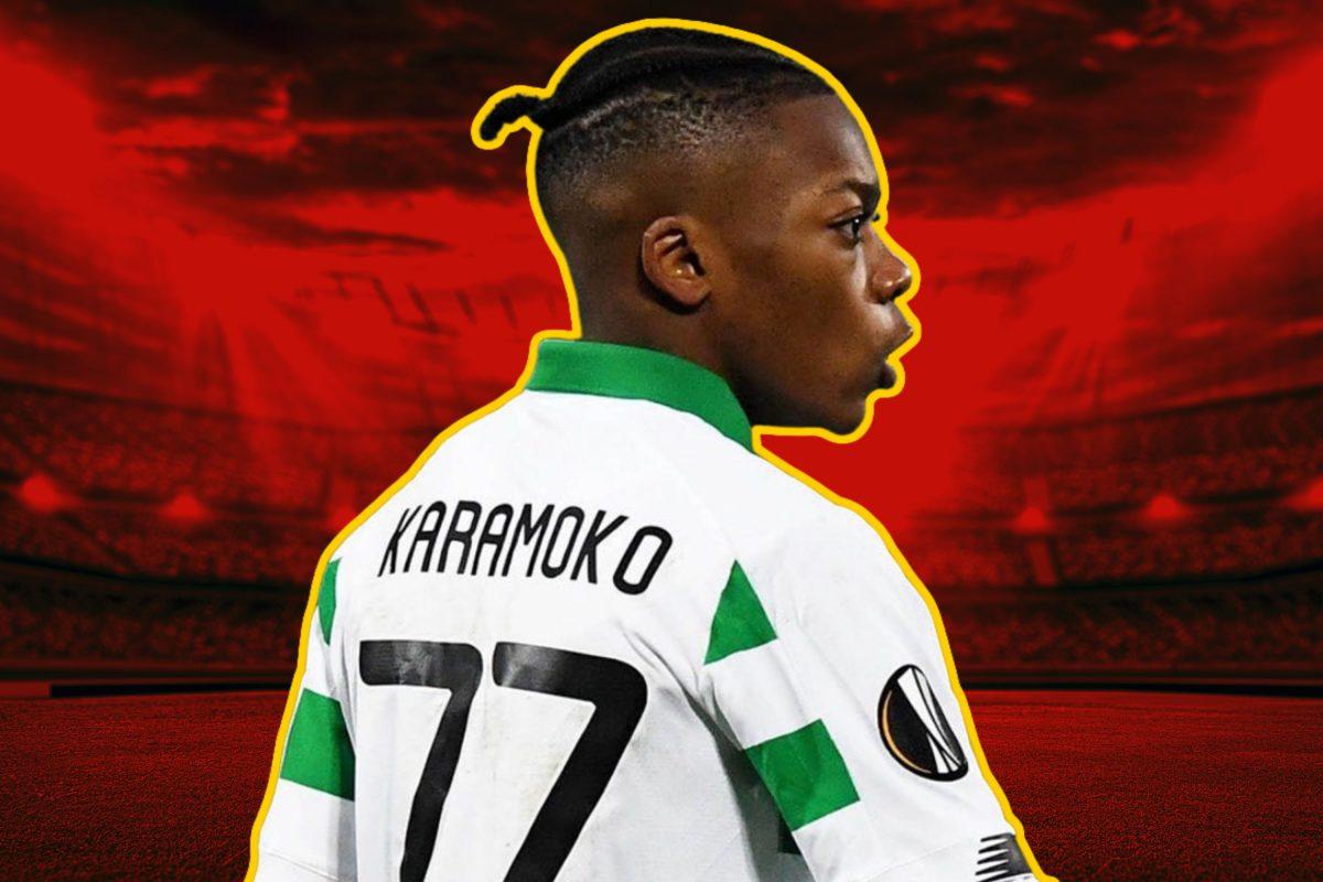 Karamoko Dembele in Celtic home kit