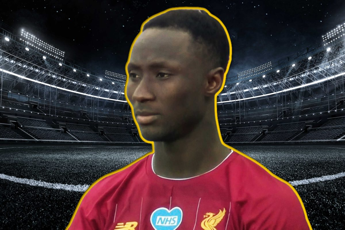 Naby Keita in Liverpool home kit