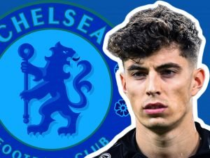 Chelsea logo and Kai Havertz face