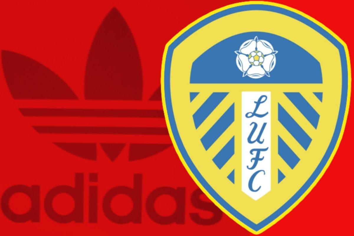 Classic Adidas logo and Leeds United logo