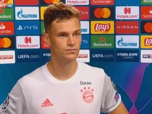 Joshua Kimmich in a post-match interview after Bayern 8-2 Barcelona