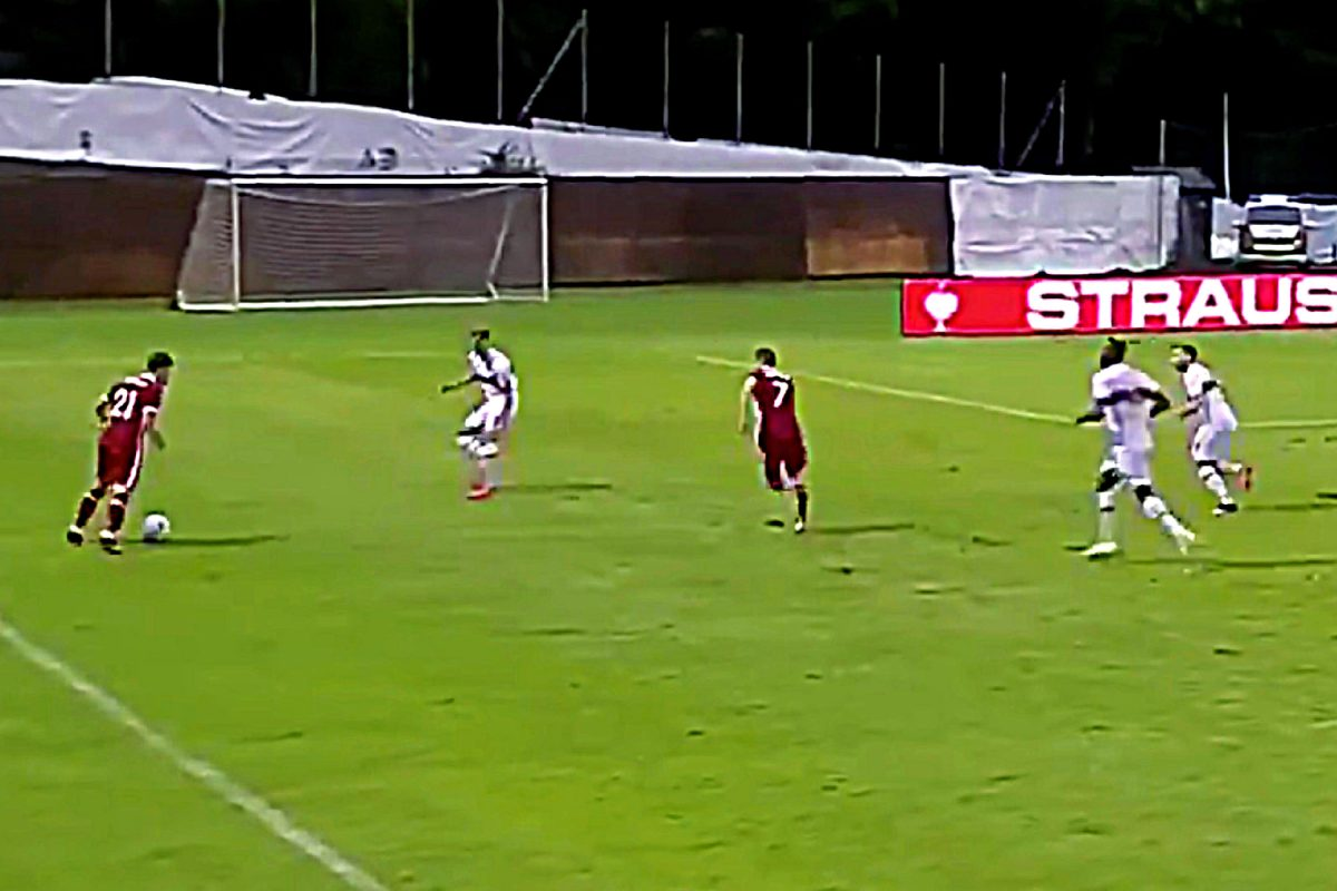 Kostas Tsimikas and James Milner against Stuttgart