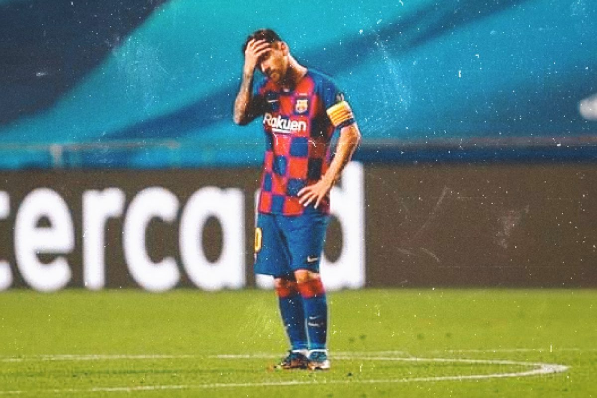 Lionel Messi aghast after Bayern defeat