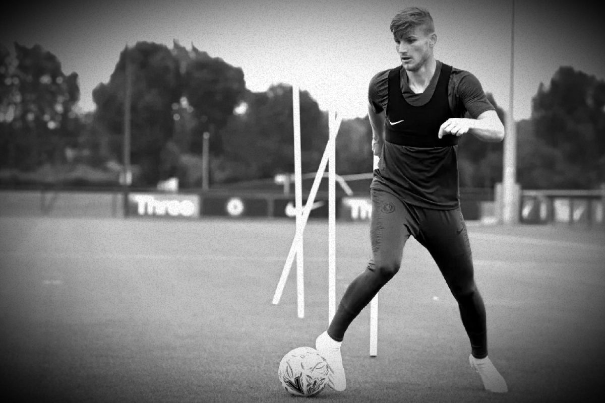 Timo Werner in Chelsea training gear from Nike