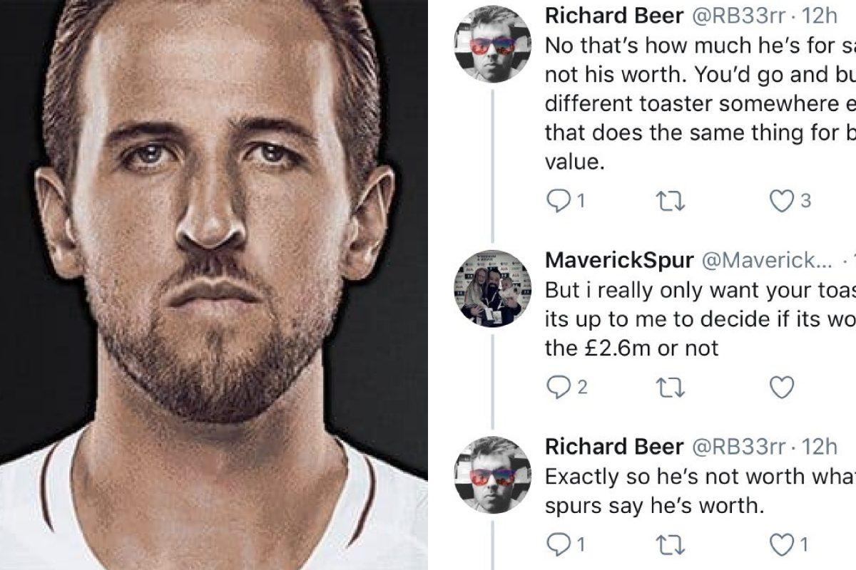Tottenham fans argue over Harry Kane's value