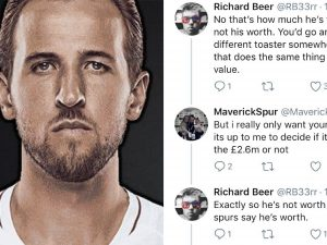 Tottenham fans argue over Harry Kane's value