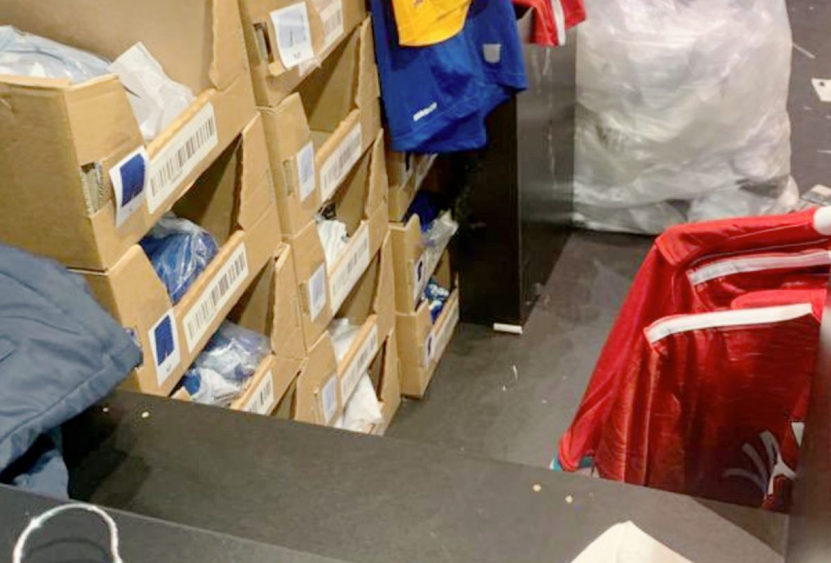Liverpool home kit for 20_21 season spotted at the Everton store