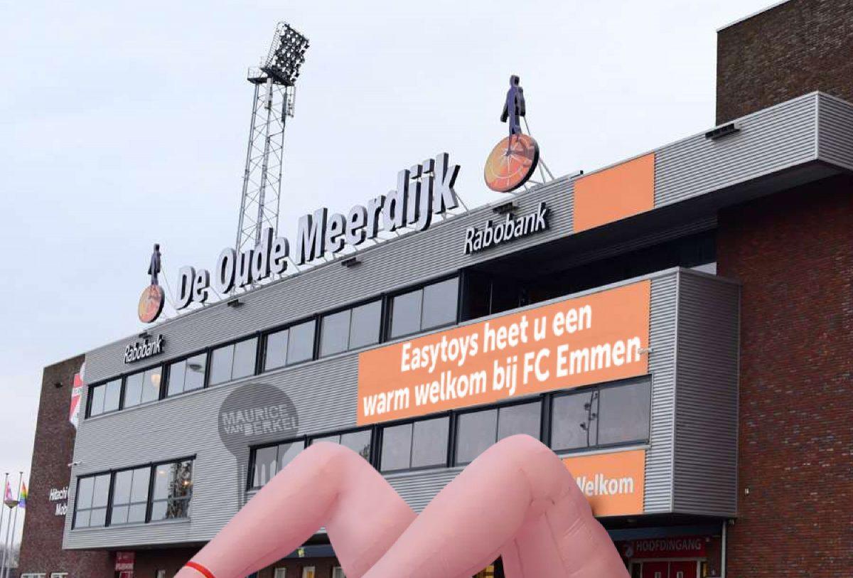 New sponsors EasyToys arrange for an x-rated welcome for FC Emmen fans