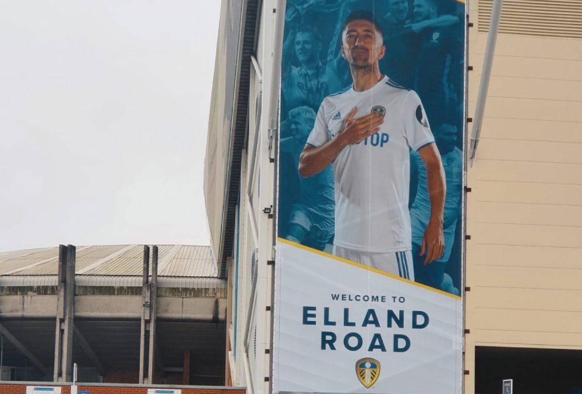 Pablo Hernandez banner on Elland Road