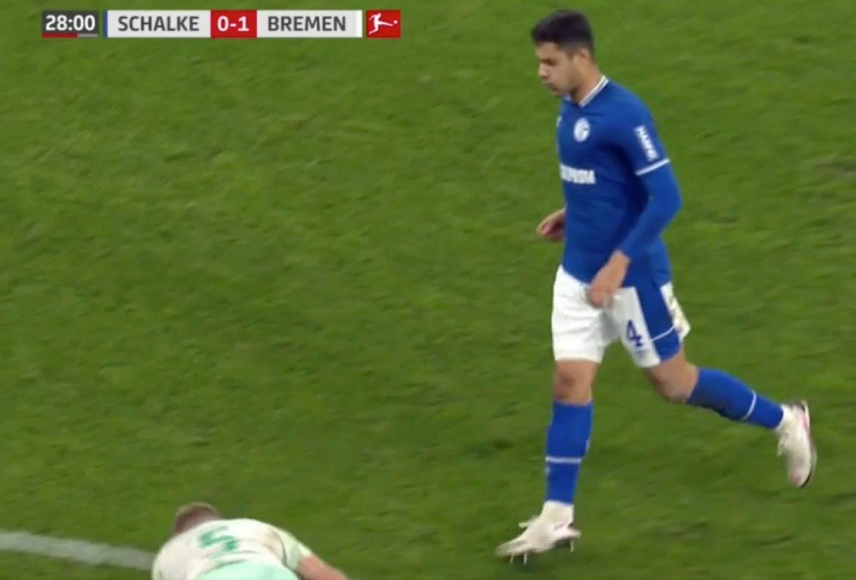 Vile - Ozan Kabak spits on Werder Bremen player Ludwig Augustinsson