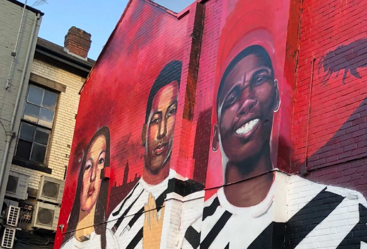 mural of Marcus Rashford and Paul Pogba