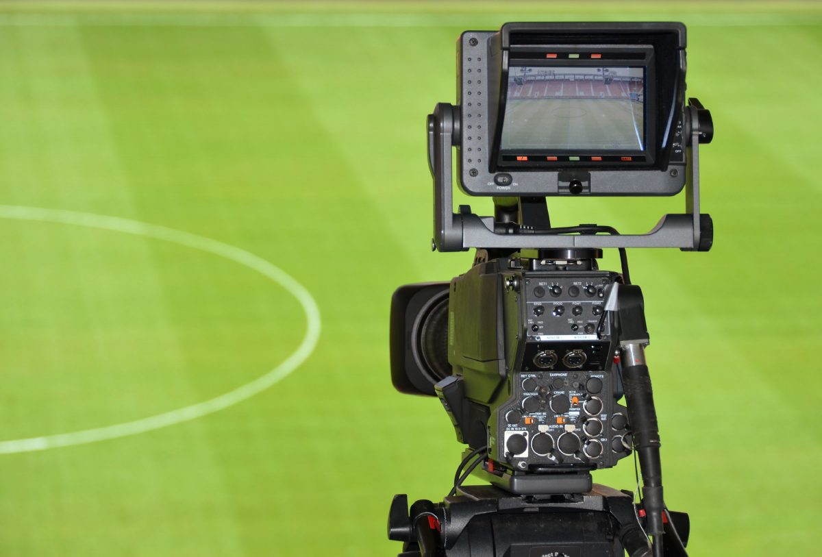 Camera deployed at a football stadium