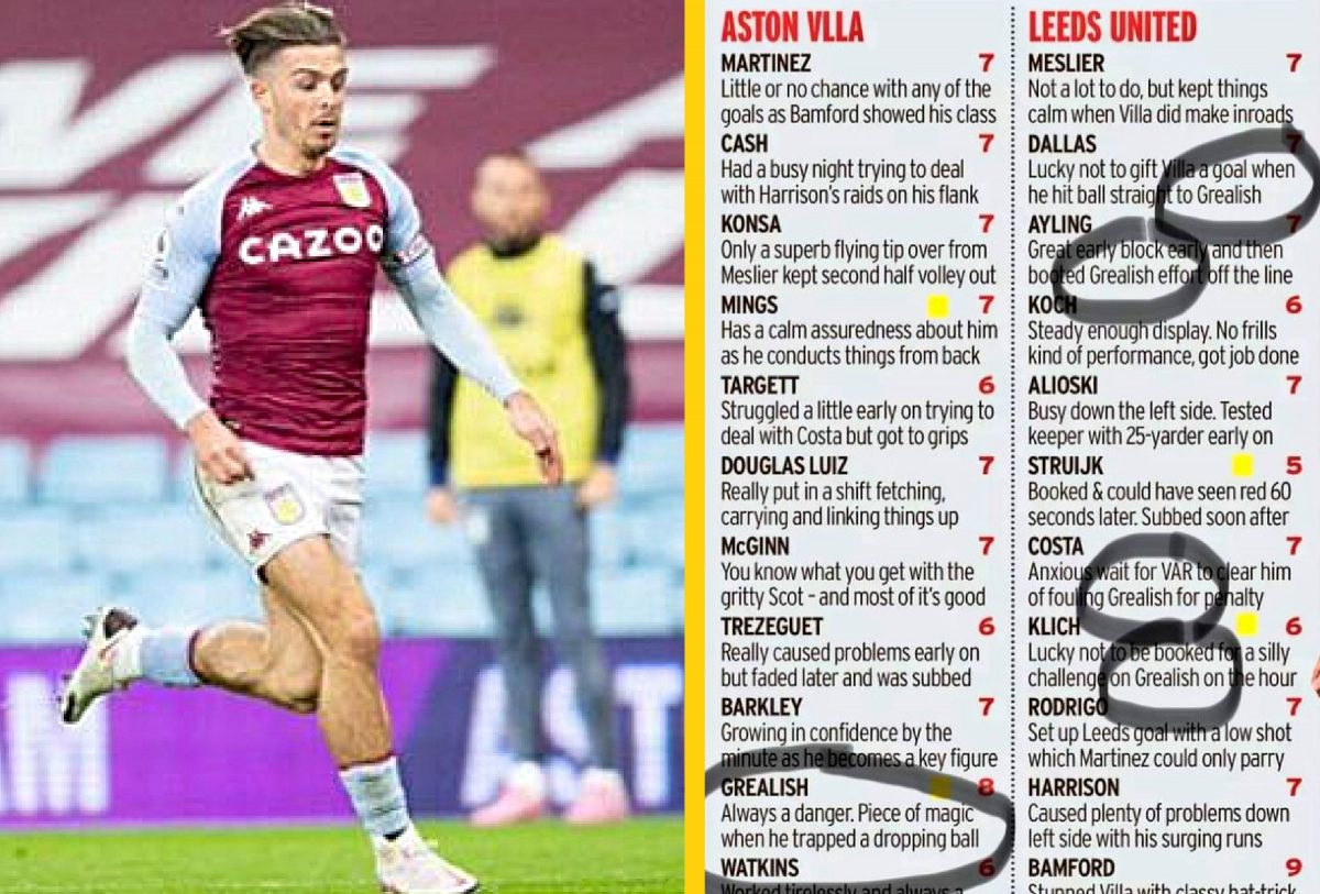 Daily Mirror accused of Jack Grealish love fest after Leeds United drubbing