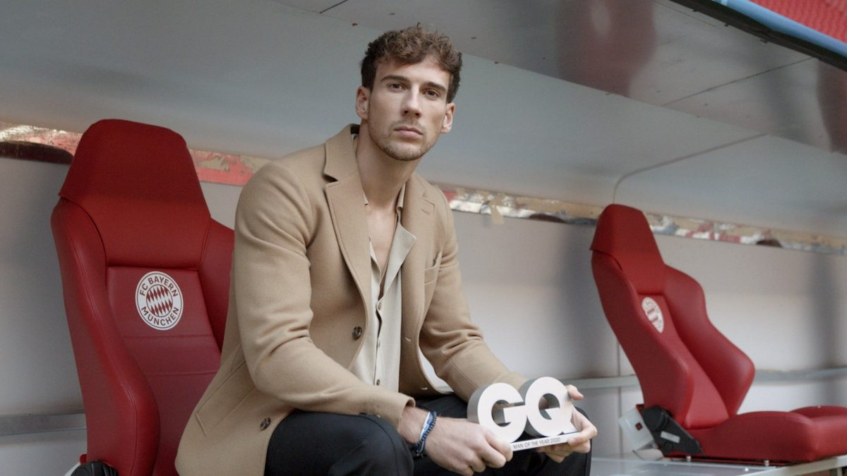 Leon Goretzka is GQ Magazine's Man of the Year in Sportsman category