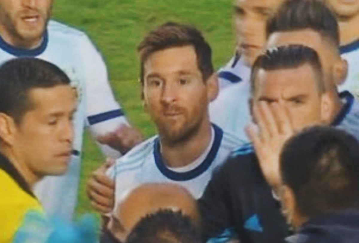 Lionel Messi called someone 'baldy' during the post-match scuffle Argentina and Bolivia