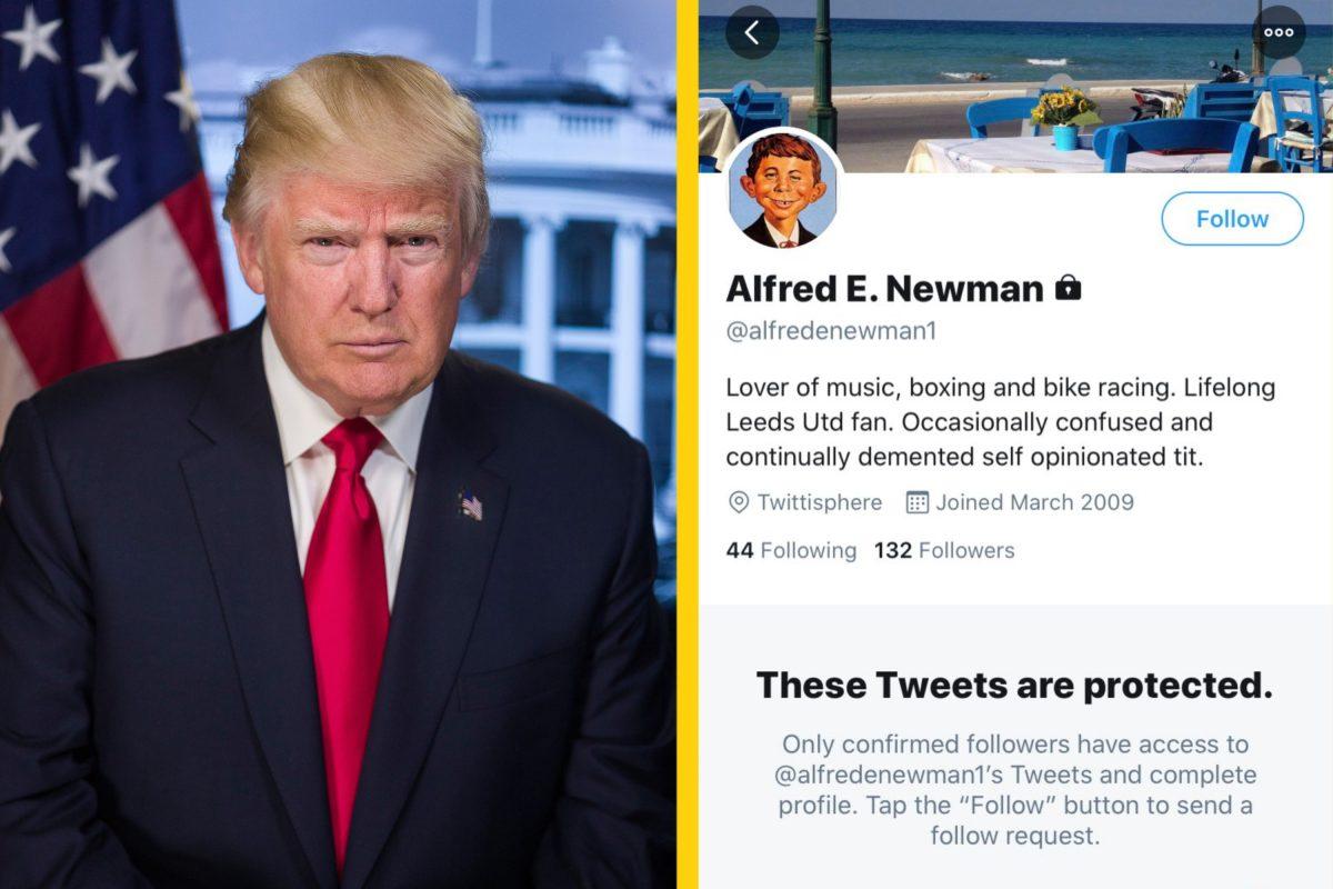 Donald Trump tags a random Leeds United fan on Twitter