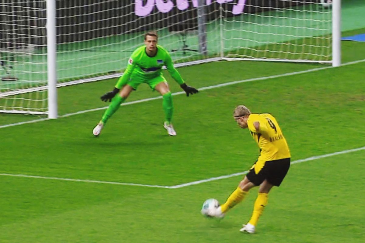 Erling Haaland v Hertha Berlin