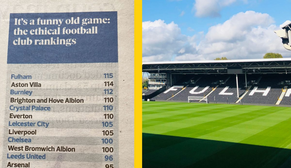 Fulham are most ethically run club in the Premier League