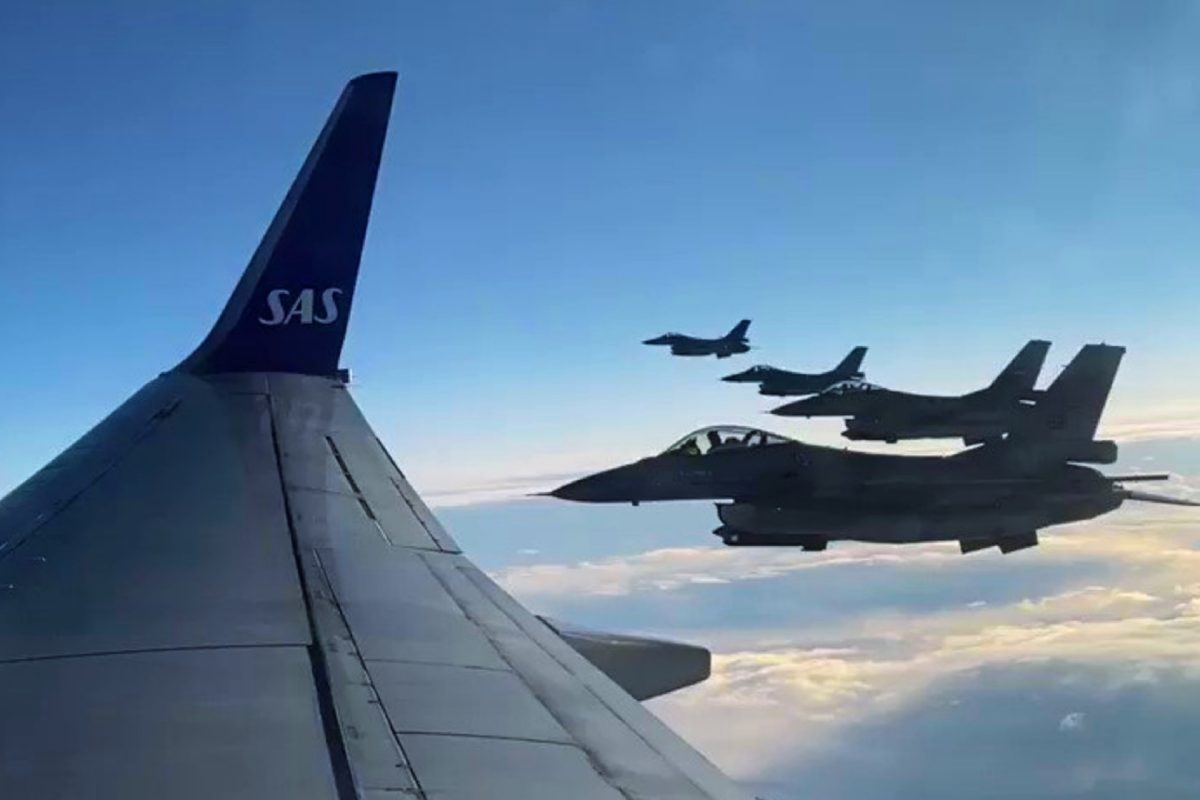 Norwegian champions Bodo_Glimt escorted by F-16s on their way home after winning the title