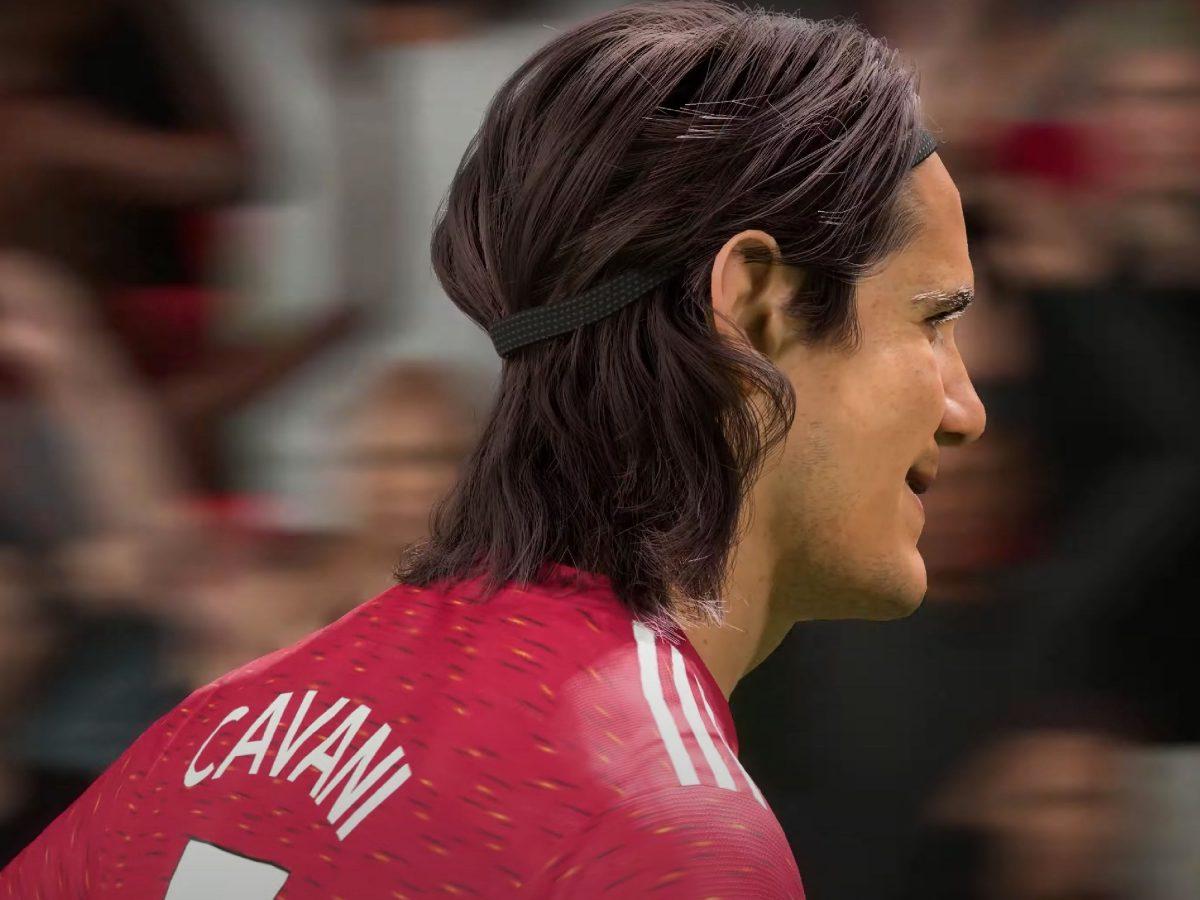 Edinson Cavani's hair on FIFA 21 Next Gen