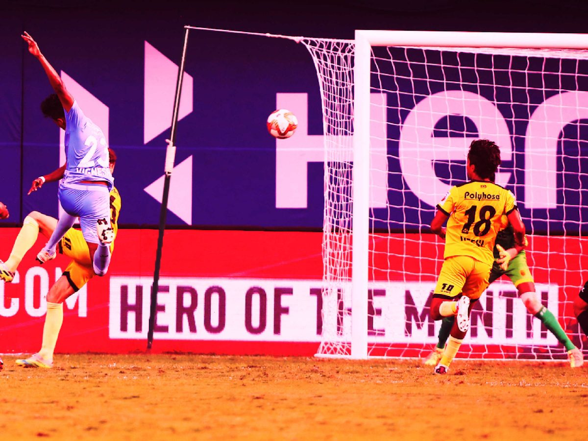 Vignesh scores possible ISL goal of the season with a wonder volley against Hyderabad FC (1)