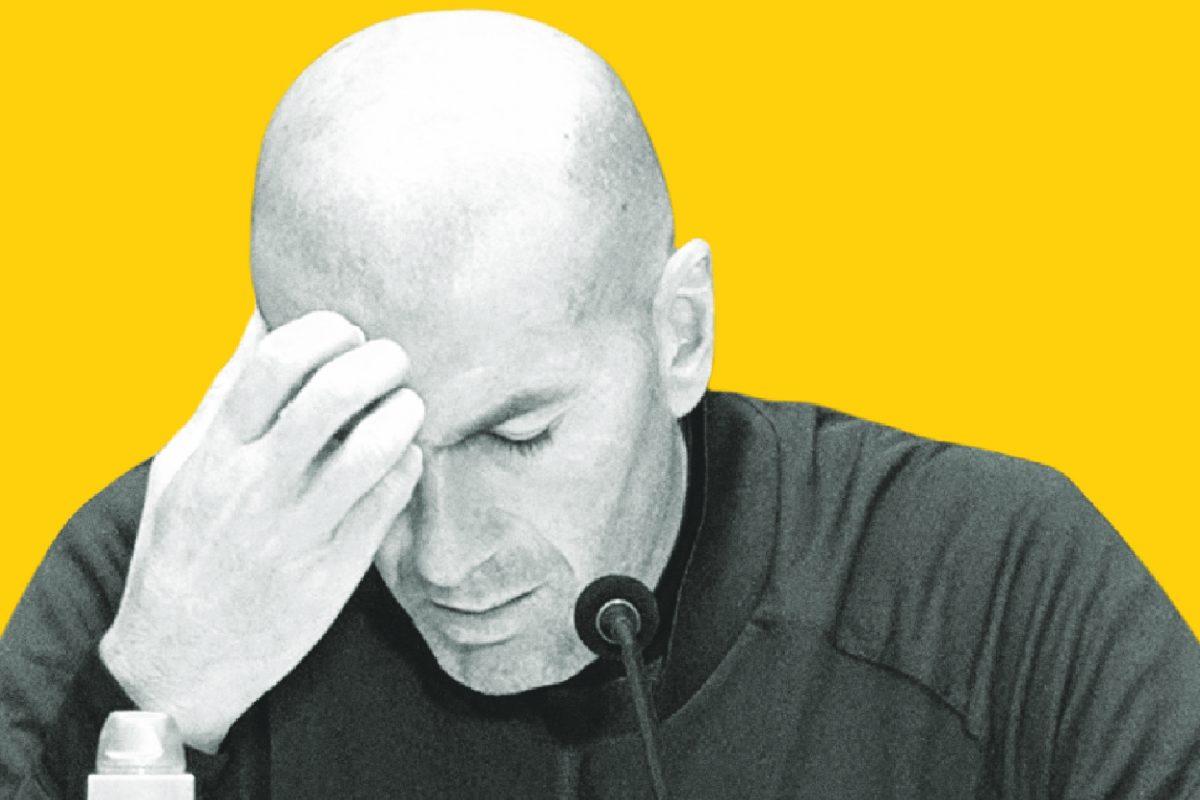 Zidane scratching his head
