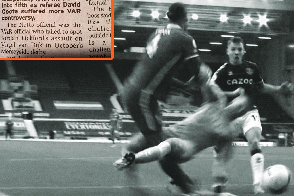 journo labels Pickford's challenge on Van Dijk as an 'assault'