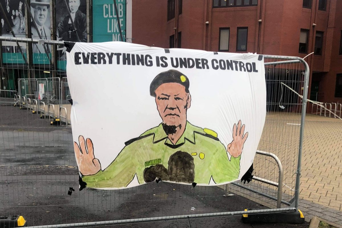 Celtic fans release banner comparing club CEO Peter Lawwell to Saddam Hussein's propaganda minister