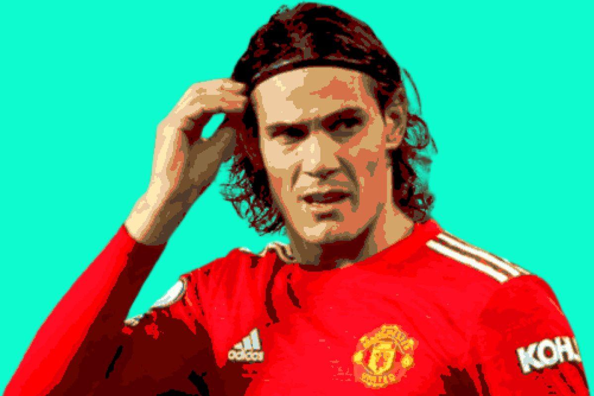 Edinson Cavani in Man Utd kit