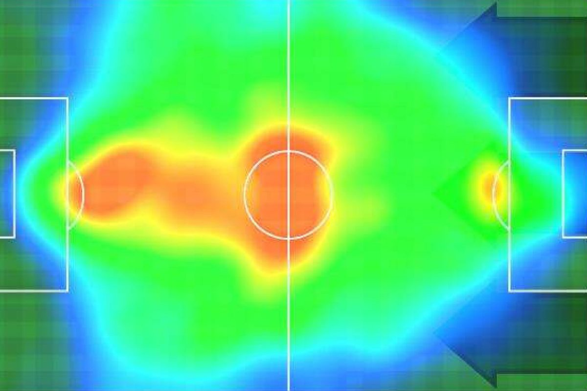 Inter Milan heat map v Udinese