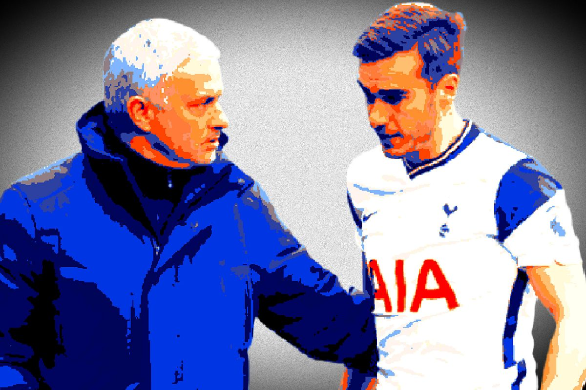 Jose Mourinho and Harry Winks